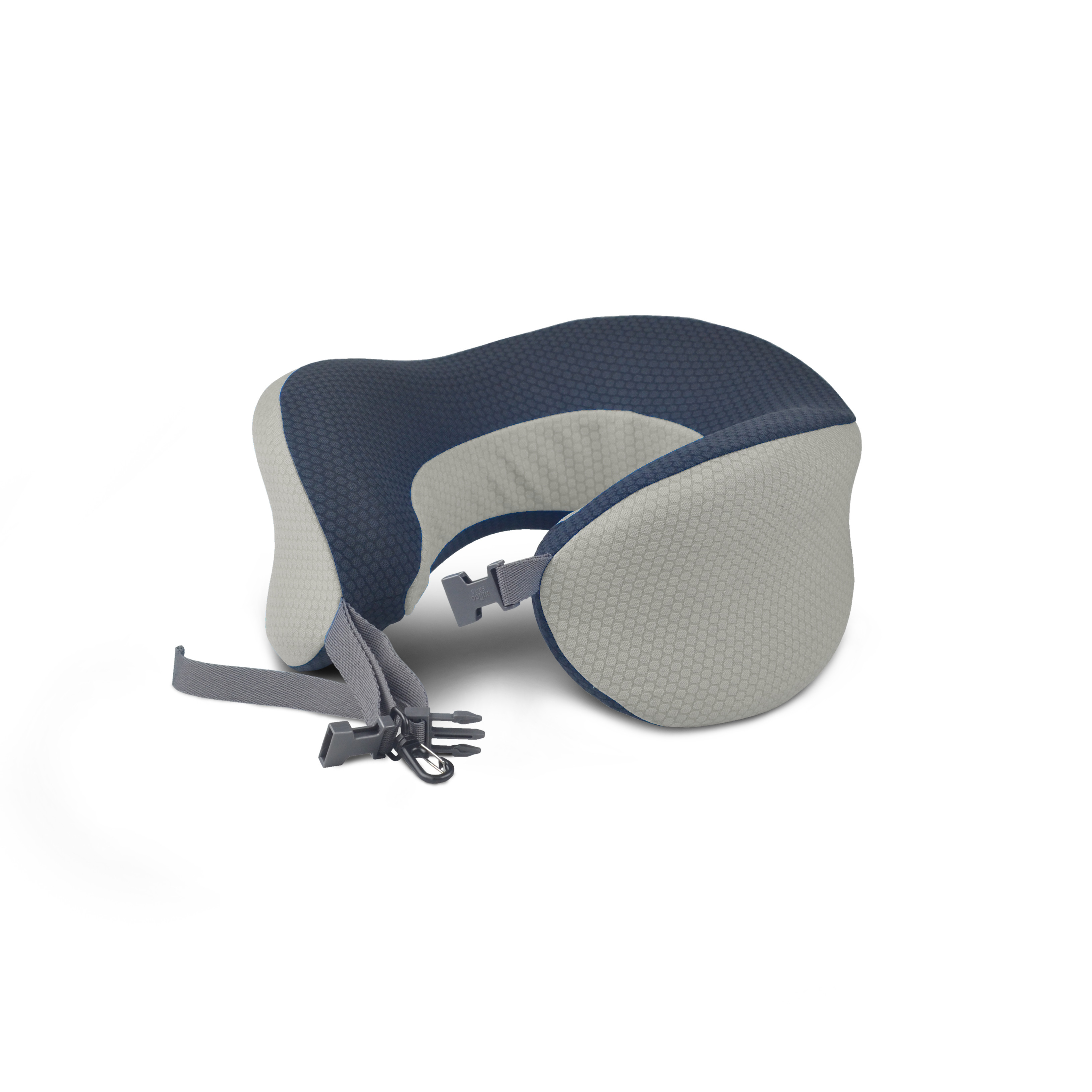 Gray portable custom travel pillow foldable travel pillow