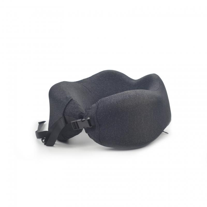 Black rollable Travel Pillow