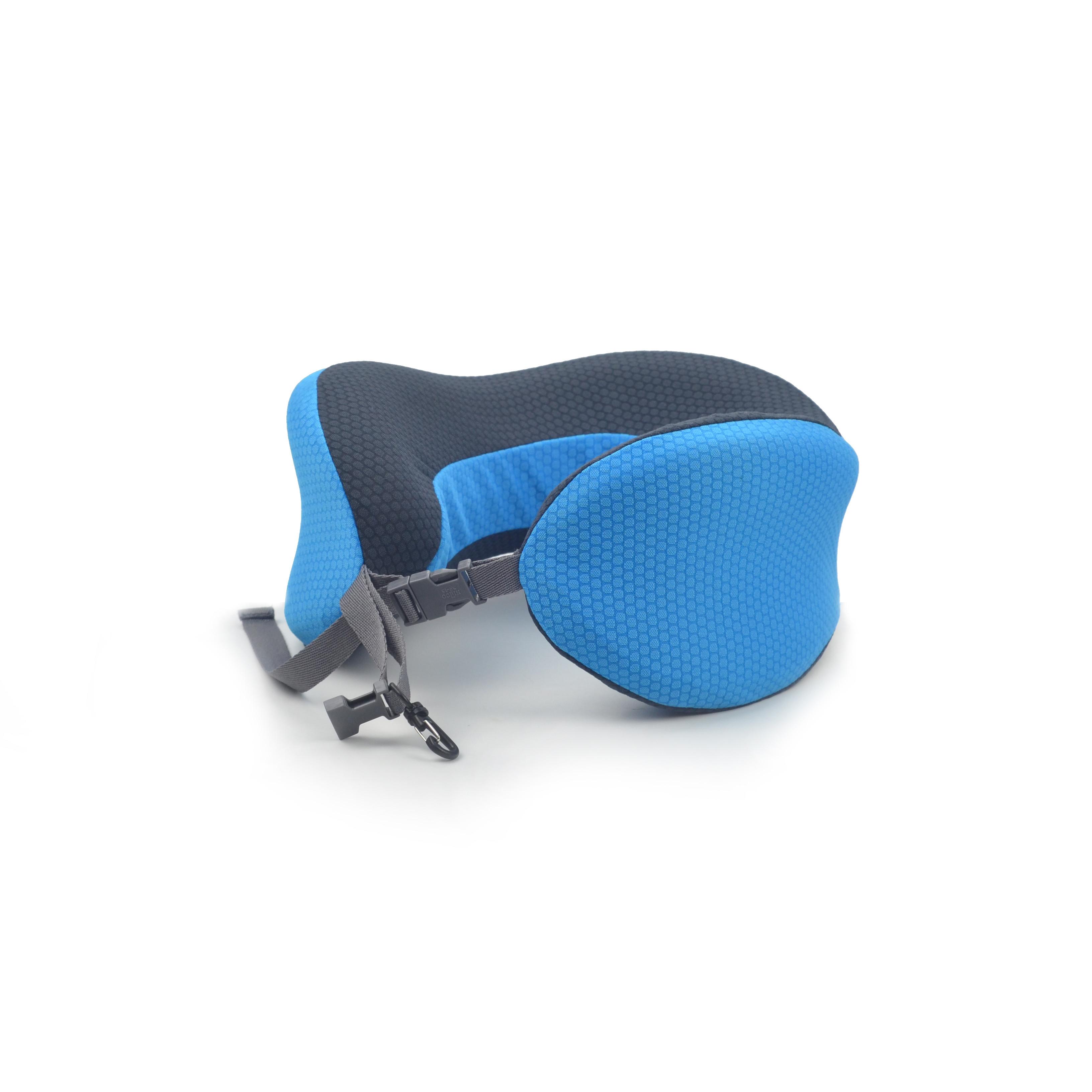 Blue portable custom travel pillow foldable travel pillow