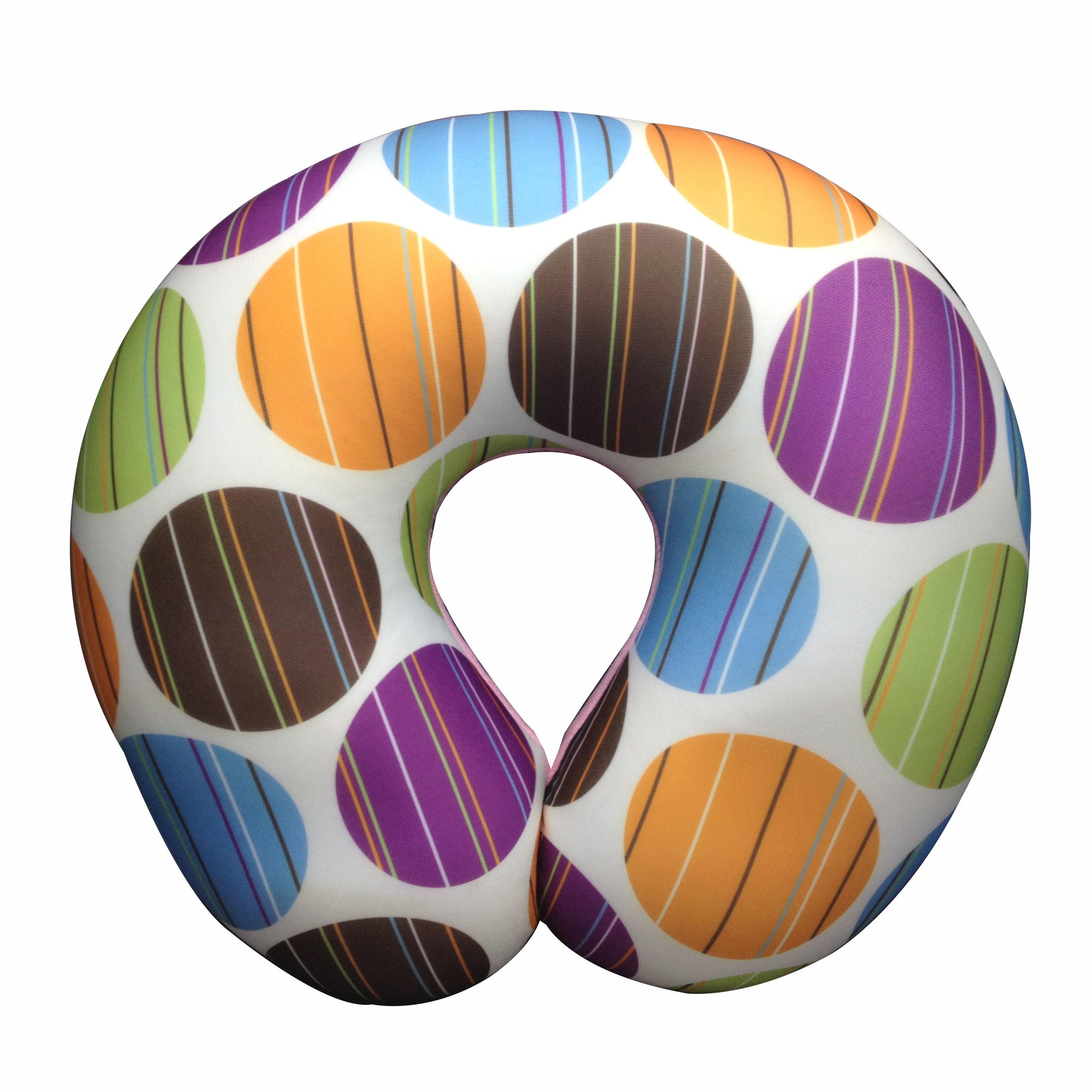Printed custom microbead pillow u shaped travel pillow