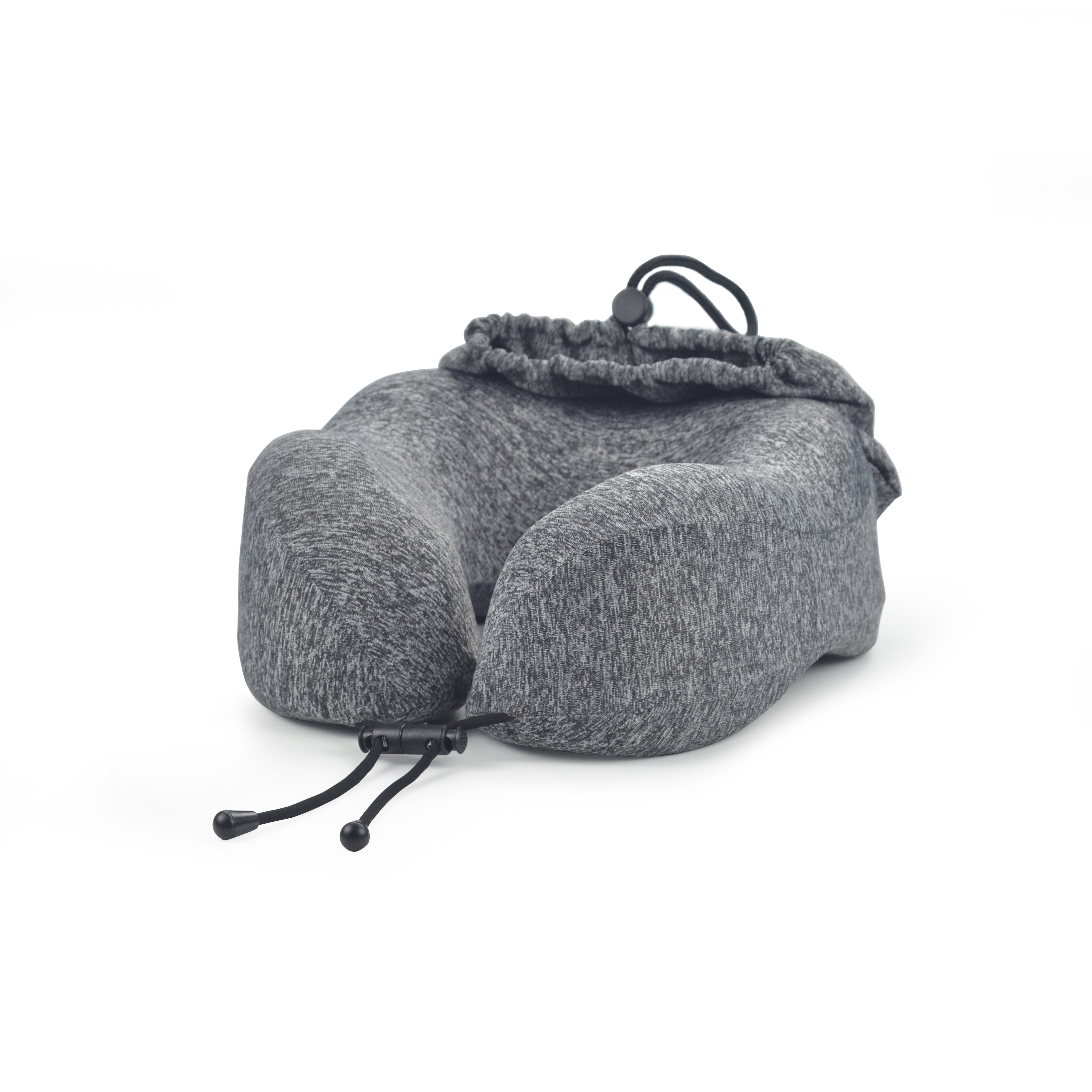 Self-contained custom travel pillow memory foam neck pillow with bag