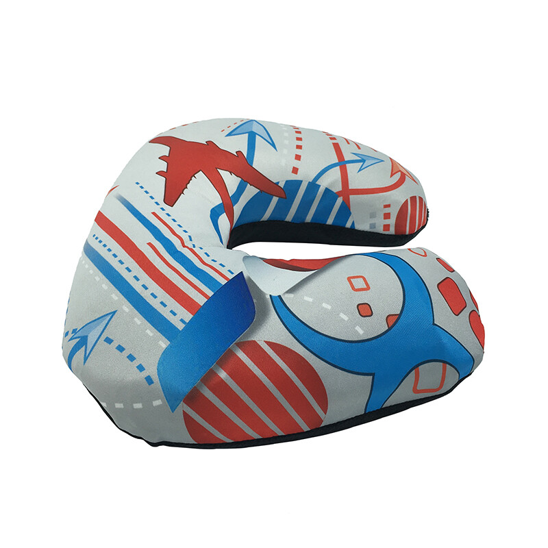 Route pattern inflatable custom travel pillow air travel neck pillow