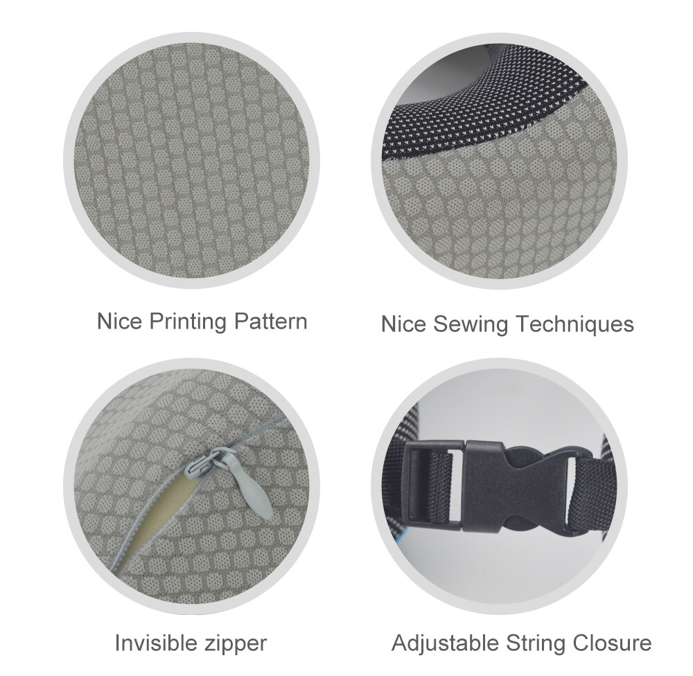 Gray foldable custom travel pillow portable travel pillow