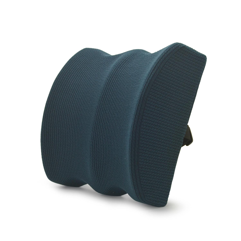 Dark blue custom lumbar pillow