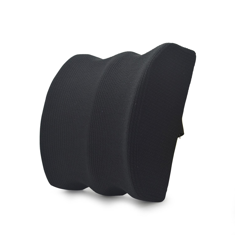Black custom lumbar pillow back cushion