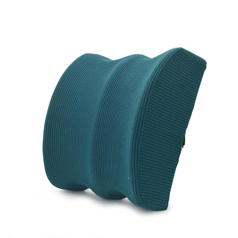 Dark green custom lumbar pillow back cushion