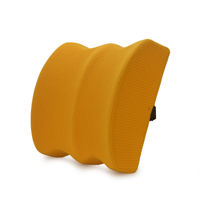 Orange custom lumbar pillow back cushion