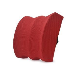 Red custom lumbar pillow back cushion