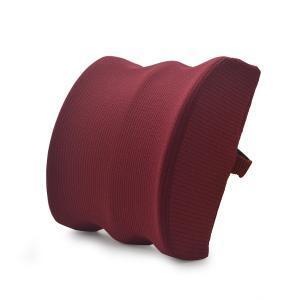 Burgundy custom lumbar pillow back cushion