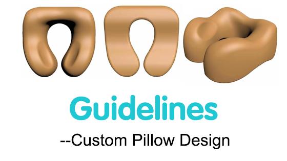 custom pillow design guideline